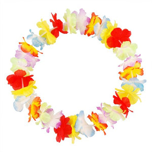 Hawaiian Tropical Party Flower Lei Leis Neck Garland