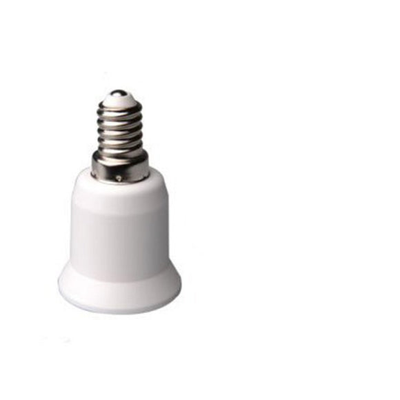 YKS E14 to E27 Extend Base LED CFL Light Bulb Lamp Adapter Converter Screw Socket
