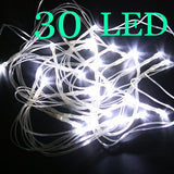 3M 30LED String Fairy Lights AA Battery for Christmas Festival Party Decor White