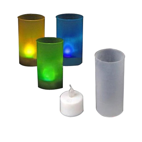 LED Candle Night Light Lamp Candle Light Sensor Electric Deco