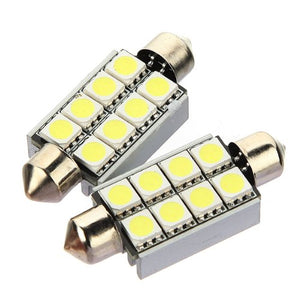 C5W 8 LED 5050 SMD SHUTTLE 42MM WHITE Bulb ANTI WITHOUT ERROR ODB Ceiling