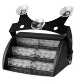 18 LED Light Flash Strobe Flashing White Emergency Alert Car 4 Mode