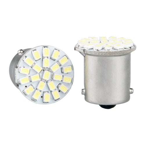 2 X 1156 Ba15s / P21W 1206 SMD LAMP BULB 22 LEDS WHITE 12V FOR CAR
