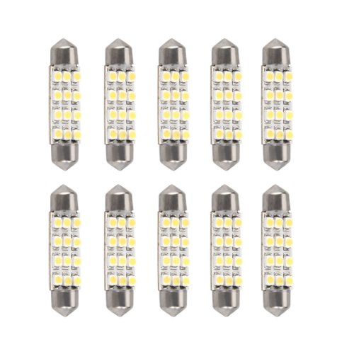 Bulb Lamp Festoon Light White 3528SMD 12 LED Car Auto Motorcycle 41mm