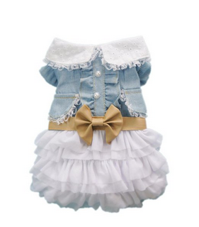 Fairy Denim Dog Dress
