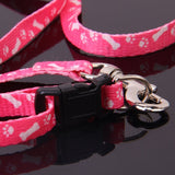 Bone Paws Print Small Dog Pet Leash Lead & Harness Tool