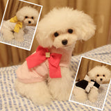 Pet Dog Shirt Tee Clothes Apparel w/ Bowknot