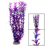 Fish Aquarium Plastic Carmine Plant Decor Ceramic Base