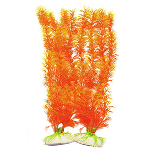 Orange Vividly Float Plants Decor Fish Tank Aquarium Ornament