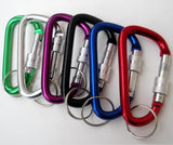 Aluminum Carabiner Snap Hooks with Key Ring