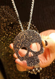 Large Skull Head Necklace