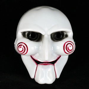 New White Full Face Cosplay Saw Puppet Masquerade Horror Scary Mask