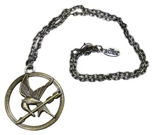 "The Hunger Games Movie Necklace Single Chain ""Mocking Jay"""