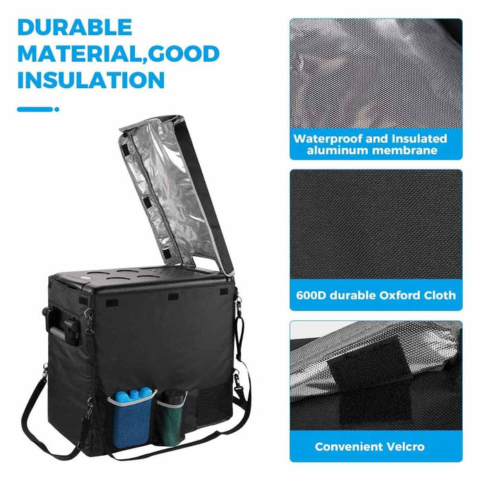 Insulated Protective Cover Transit Bag for 53 Quart Portable Refrigerator Fridge