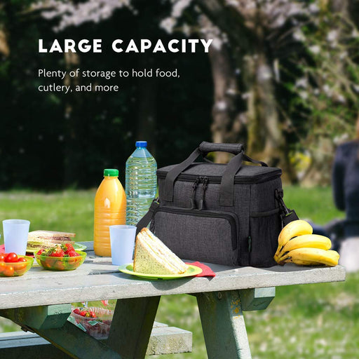 18 Cans Soft Insulated Lunch Cooler Bag