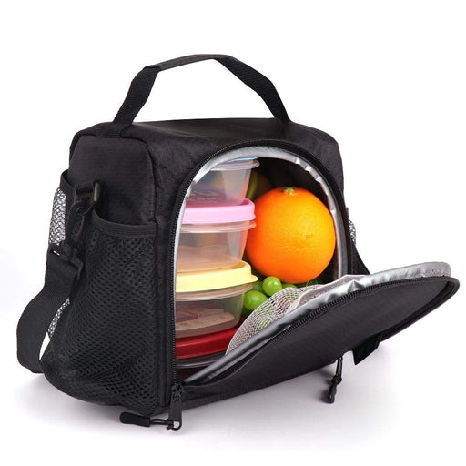 6 Cans Insulated Tote Lunch Bag (Black)