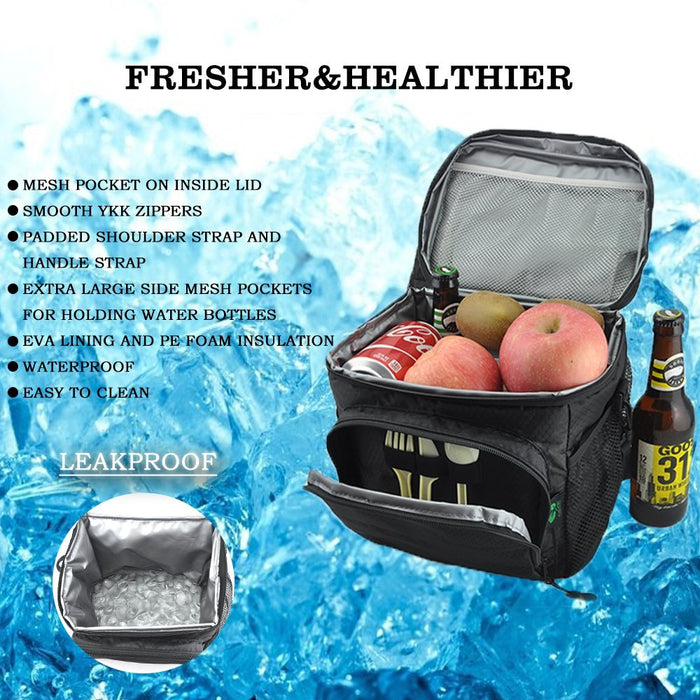 12 Cans Insulated Thermal Lunch Bag
