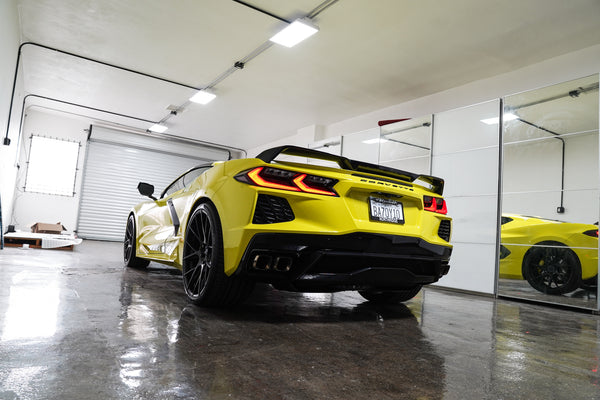 "2020 CHEVY CORVETTE IN ""ACCELERATE"" YELLOW"