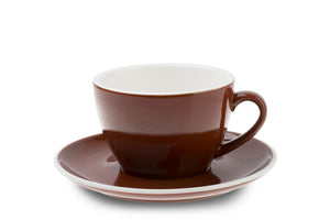 BROWN 12oz Cup & Saucer