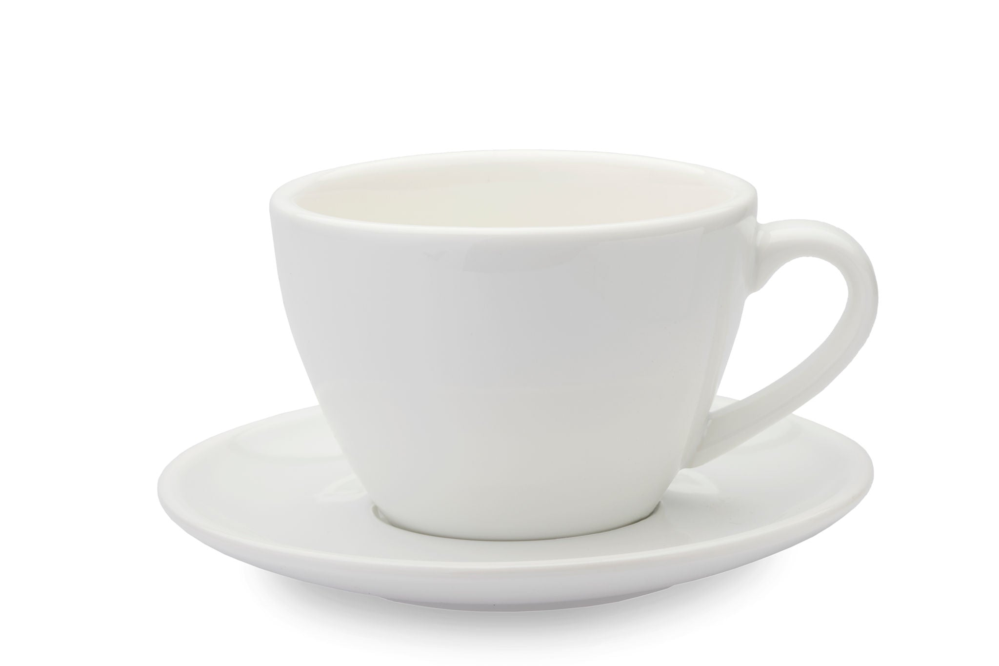WHITE 10oz Cup & Saucer