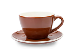 BROWN 10oz Cup & Saucer