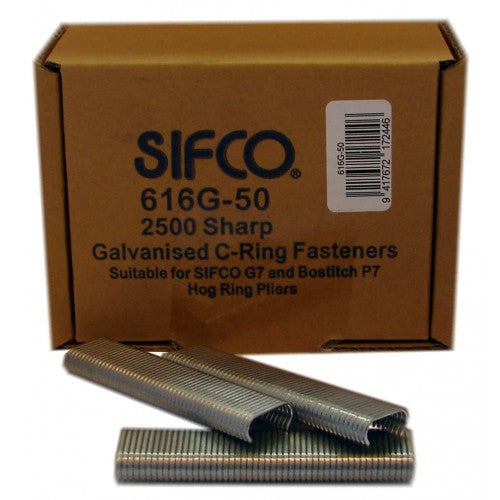 616G-50 Sharp Galvanised C Ring Staples