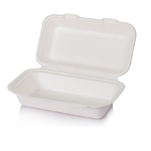 BioChoice Meal Box Hinged Lid 600ml (185x130mm)