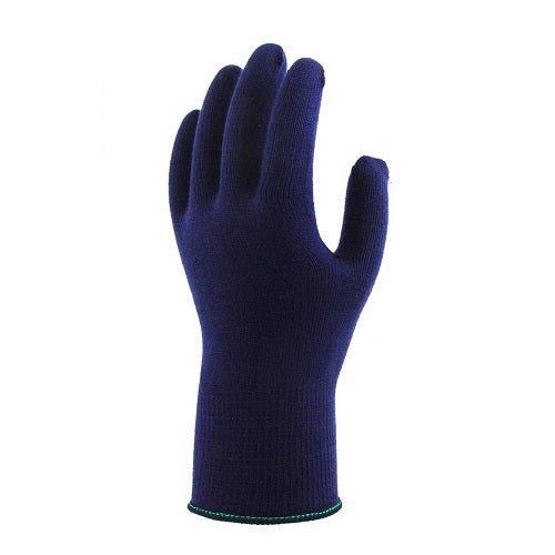 Blue Polyprop Knit Glove