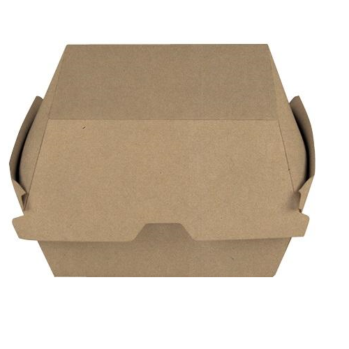 Brown Paper Board Burger Clam (105x102x83mm)