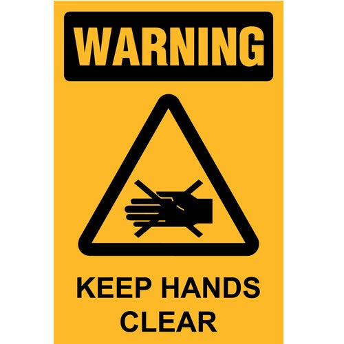 Warning Keep Hands Clear