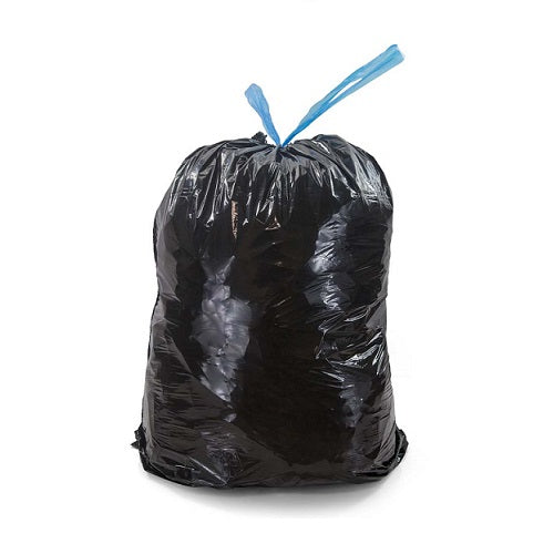 Black Drawtape Rubbish Bags