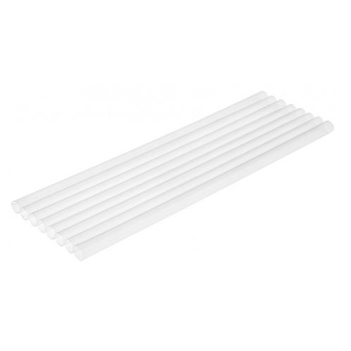 Clear Eco Straws 7mm x 200mm 100/Slv
