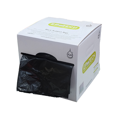 Eco Black Rubbish Bags on Roll