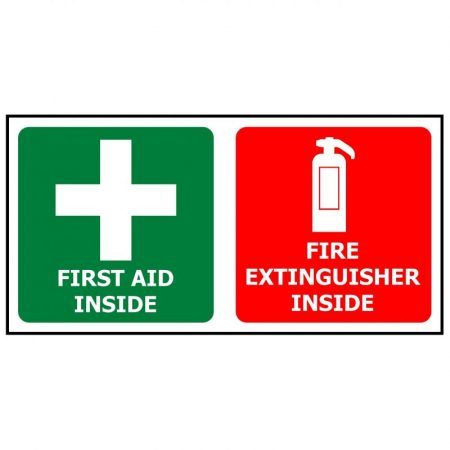First Aid/ Fire Extinguisher Label