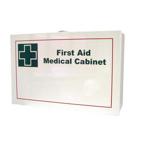White Metal First Aid Kit Wall Mountable (empty)