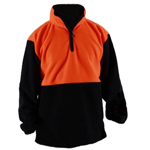 Hi-Viz Fleece Tunic Long Sleeve Orange