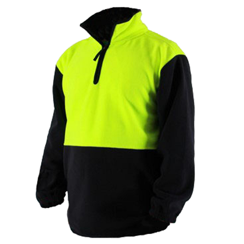 Hi-Viz Fleece Tunic Long Sleeve Yellow