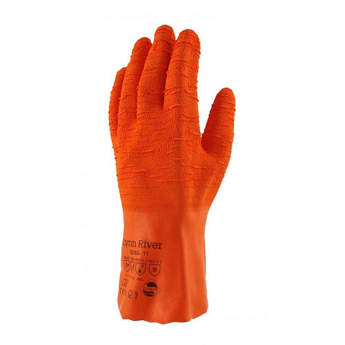 Orange Industrial Ultra Rubber Grip Glove