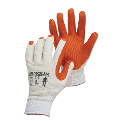 Red Tough Latex Coated Glove