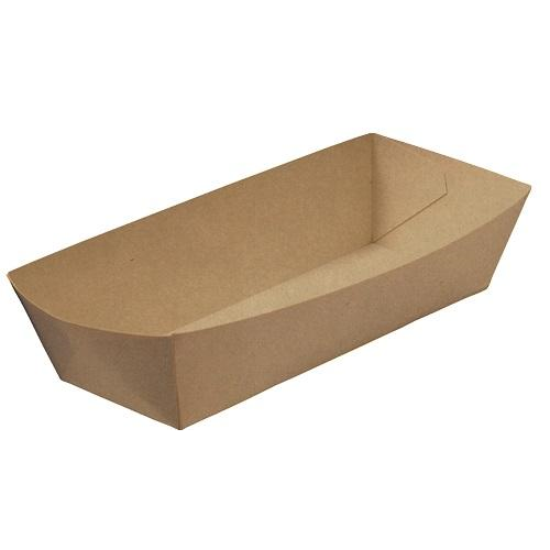 Rediserve Brown Kraft Paper Hot Dog Tray