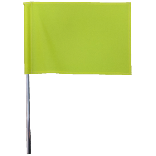 Yellow Hazard Flag & Pole