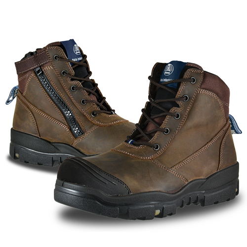 Helix Horizon Zipped Brown Safety Boot