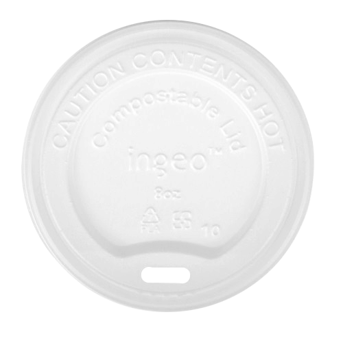 Compostable Lid for Green Compostable Coffee Cup
