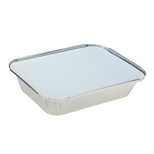 Medium Foil Hangi Trays & Lid 125/slv
