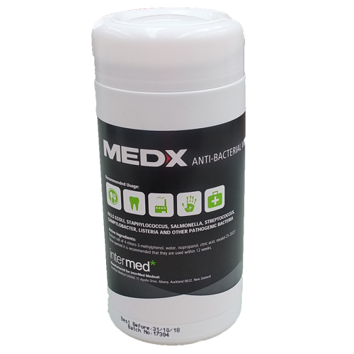 Med-X Antiseptic Wipes 100 - TEMPORARY OUT OF STOCK