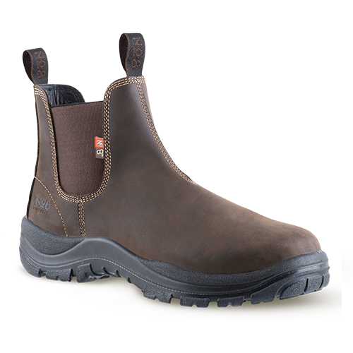 No.8 Munro Slip On Safety Boot Brown