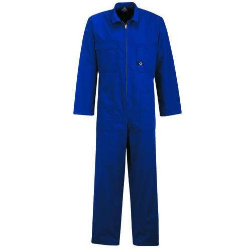 Royal Blue Poly Cotton Zip Overalls