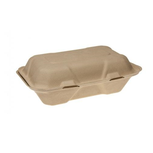Rectangular Bamboo Burger Clam 228x152x76mm