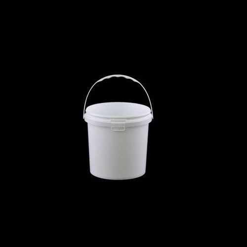 Round White Pails with Handle