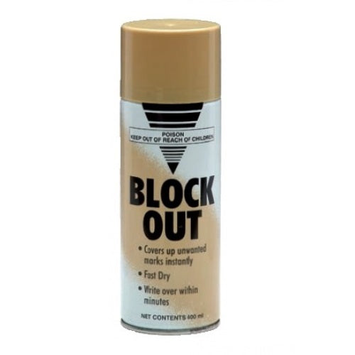Block Out Brown Paint